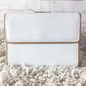 COACH bi-fold wallet with change purse in white